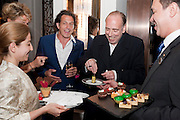 STEPHEN WEBSTER; MICK JONES Stephen Webster hosted  the Stephen Webster Bijoux Tea.  Launching the  tea  inspired by Stephen&Otilde;s most recent fine jewellery collection &Ocirc;Murder She Wrote&Otilde; whichwas also on display. Langham Hotel. Portland Place. London. 14 September 2011. <br /> <br />  , -DO NOT ARCHIVE-&copy; Copyright Photograph by Dafydd Jones. 248 Clapham Rd. London SW9 0PZ. Tel 0207 820 0771. www.dafjones.com.<br /> STEPHEN WEBSTER; MICK JONES Stephen Webster hosted  the Stephen Webster Bijoux Tea.  Launching the  tea  inspired by Stephen&rsquo;s most recent fine jewellery collection &lsquo;Murder She Wrote&rsquo; whichwas also on display. Langham Hotel. Portland Place. London. 14 September 2011. <br /> <br />  , -DO NOT ARCHIVE-&copy; Copyright Photograph by Dafydd Jones. 248 Clapham Rd. London SW9 0PZ. Tel 0207 820 0771. www.dafjones.com.