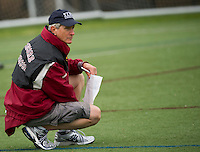 Concord Tide Lacrosse Head Coach Terry Anderson during the semi final Division I action with Exeter.   (Karen Bobotas/for the Concord Monitor)