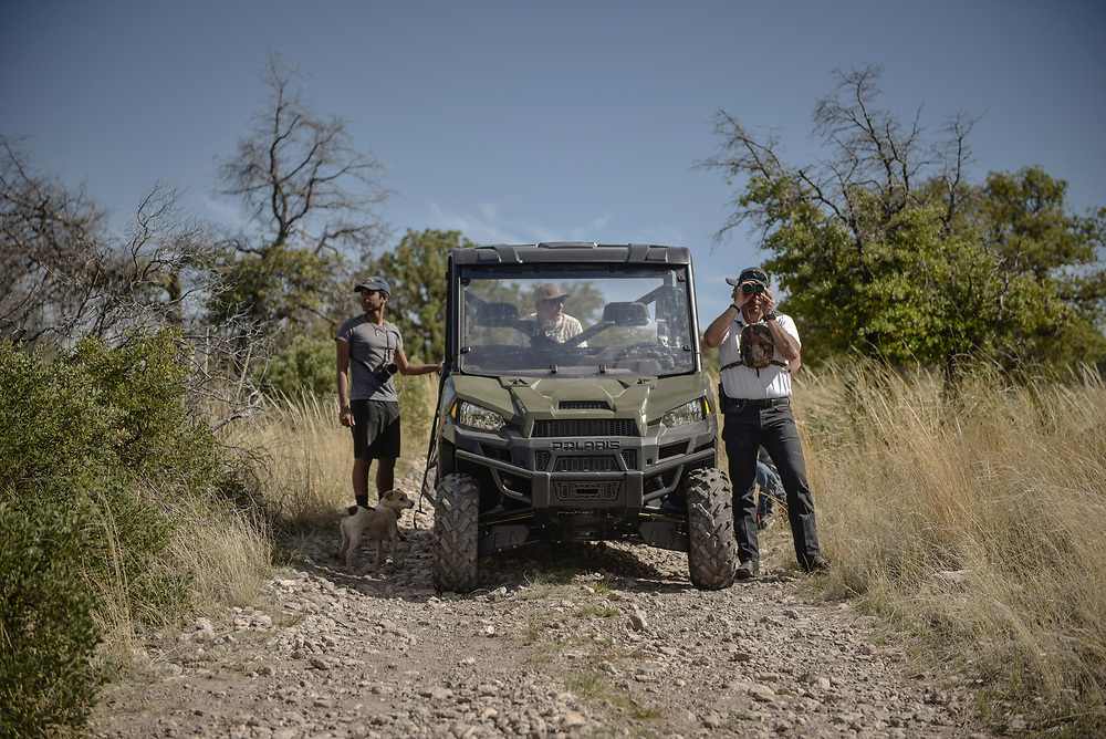 rer041417c/A1/April 14, 2017/Albuquerque Journal<br /> Story about how the proposed border wall by the Trump administration would have on the ecosystem throughout New Mexico's Coronado National Forest. Pictured are Zen Khan(Cq),left and biologist Fernando Clemente(Cq), right, looking to spot wildlife.<br /> Roberto E. Rosales/Albuquerque Journal