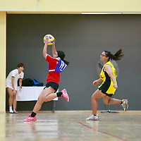 ITE (red) beat SP 46-34 for their first win in the POL-ITE Netball Championship. (Photo © Les Tan/Red Sports)