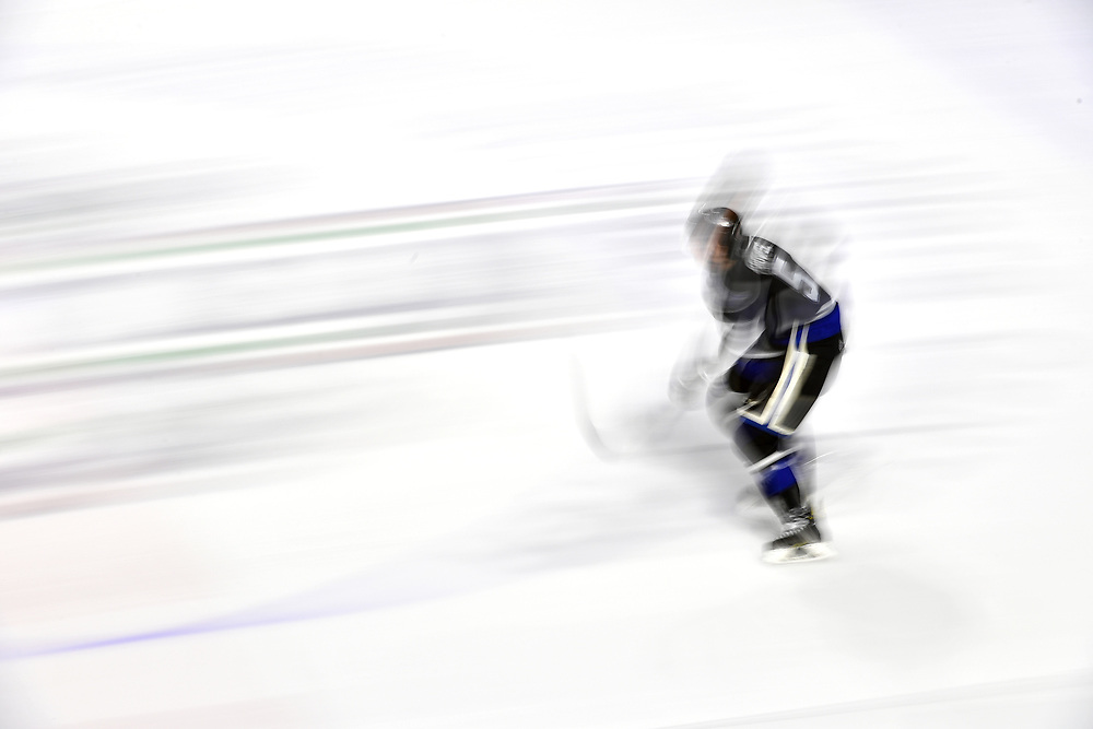 KENT, WASHINGTON - MARCH 08: Mitchell Prowse #5 of the Victoria Royals zooms across the ice against the Seattle Thunderbirds in the first period at accesso the ShoWare Center on March 08, 2019 in Kent, Washington. (Photo by Alika Jenner/Getty Images)