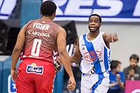 San Pablo Burgos Corey Fisher and Gipuzkoa Basket Kenny Chery during Liga Endesa match between San Pablo Burgos and Gipuzkoa Basket at Coliseum Burgos in Burgos, Spain. December 30, 2017. (ALTERPHOTOS/Borja B.Hojas)