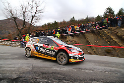 17.01.2014, Stage 10, Sisteron, FRA, FIA, WRC, Rallye Monte Carlo, 2. Tag, im Bild MELICHAREK Jaroslav / MELICHAREK Erik ( Slovakia World Rallye Team (SVK) / FORD FIESTA RS ), Aktion / Action // during Stage 10 on day two of FIA Rallye Monte Carlo held near Monte Carlo, France on 2014/01/17. EXPA Pictures © 2014, PhotoCredit: EXPA/ Eibner-Pressefoto/ Neis<br /> <br /> *****ATTENTION - OUT of GER*****