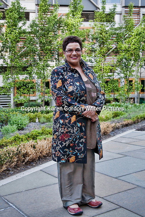 Jackie Kay at a Parliamentary Reception in Edinburgh.<br /> As part of Refugee Week Scotland Women from mIN involved in 'Making it Home' project with Refugee Survival Trust, Mediaco-op and Pilton Group in Edinburgh presented their work at Scottish Parliament.<br /> <br /> 19th June 2013<br /> <br /> Photograph by Karen Gordon/Writer Pictures<br /> <br /> WORLD RIGHTS