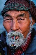 Chukchi elderman Pjotr Penetegui, Chukotka, Siberia, Russia, Arctic