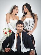 Bride, Groom, Maid-of-Honor
