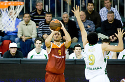 Jacopo Giachetti  of Lottomatica at Euroleague basketball match in 5th Round of Group C between KK Union Olimpija and Virtus Lottomatica Roma, on November 25, 2009, in Arena Tivoli, Ljubljana, Slovenia. Union Olimpija defeated Lottomatica 87-70. (Photo by Vid Ponikvar / Sportida)