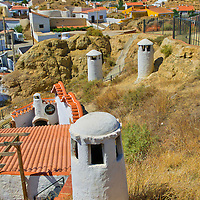 Alberto Carrera, Typical Chimneys, Cave Dwellings, Cave Houses, Santiago Troglodyte Quarter, Guadix, Granada, Andalucía, Spain, Europe