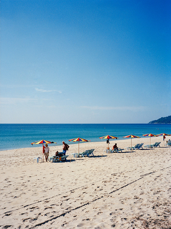 Beach umbrellas on Karon Beach