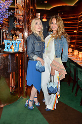 Left to right, CAMILLE SEYDOUX and ALEXIA NIEDZIELSKI at a dinner hosted by Roger Vivier to celebrate The Prismick Denim by Camillle Seydoux held at Casa Cruz, 123 Clarendon Road, London on 17th March 2016.