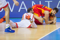 Levan Patsatsia #12 of Georgia vs Marc Gasol #13 of Spain during basketball match between National teams of Spain and Georgia in Round 1 at Day 6 of Eurobasket 2013 on September 9, 2013 in Arena Zlatorog, Celje, Slovenia. (Photo by Vid Ponikvar / Sportida.com)