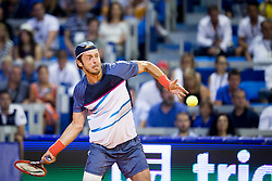 Paolo Lorenzi from Italy during a tennis match against the Andrey Rublev from Russia in Final of singles at Plava Laguna Croatia Open Umag, on July 23, 2017 in Stadium Gorana Ivanisevica, Umag, Croatia. Photo by Urban Urbanc / Sportida