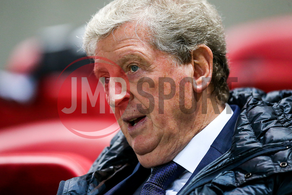Crystal Palace Manager Roy Hodgson looks on - Rogan/JMP - 24/10/2017 - Ashton Gate Stadium - Bristol, England - Bristol City v Crystal Palace - Carabao Cup Round of 16.