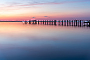 Evening colors and a long exposure create create this beautiful sunset on Chincoteague