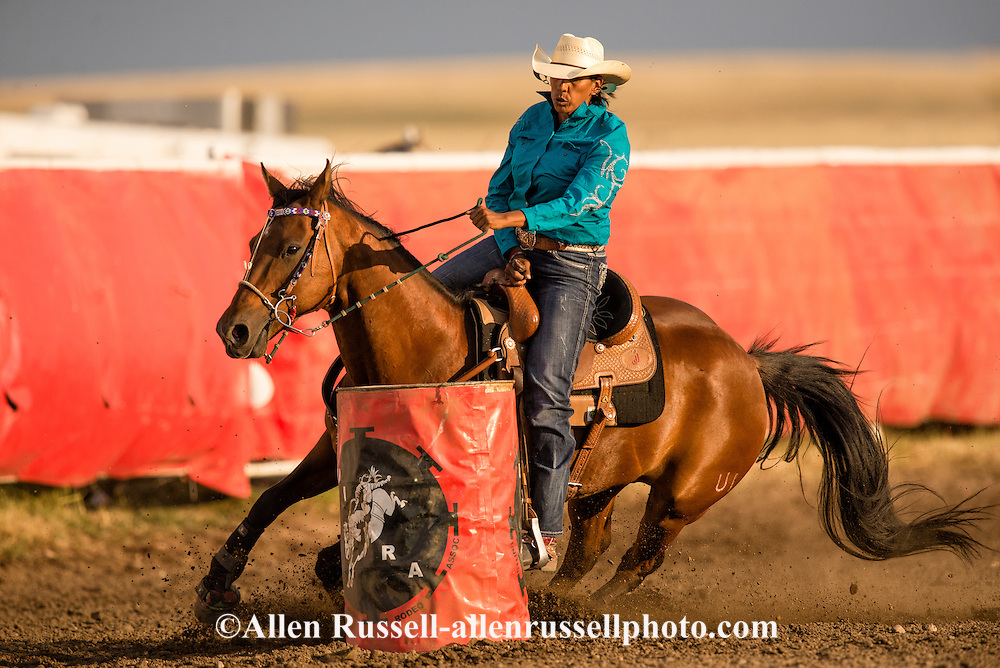 Rocky Boy Rodeo, Barrel Racer, Rocky Boy Indian Reservation, Montana, Indian Cowboys, Tracy Creighton, Blood Tribe