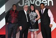 Sir Peter Leitch Member of the Year 2018 Award, Jayden Penerata (R)<br /> Vodafone Warriors Annual Awards night. Sky City, Auckland, New Zealand. Sunday 2 September 2018. © Copyright photo: Andrew Cornaga / www.Photosport.nz