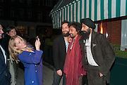 GILLIAN ANDERSON; SANDRO KOPP; HAIDER ACKERMANN; WARIS AHLUWALIA;, Charles Finch and  Jay Jopling host dinner in celebration of Frieze Art Fair at the Birley Group's Harry's Bar. London. 10 October 2012.
