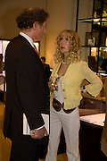 RICHARD BRIGGS; BASIA BRIGGS, Book launch party for  Sashenka, a romantic novel set in St Petersburg following a society girl who becomes involved with the Communist Party. By Simon Sebag-Montefiore. Asprey. New Bond St. London. 1 July 2008.  *** Local Caption *** -DO NOT ARCHIVE-© Copyright Photograph by Dafydd Jones. 248 Clapham Rd. London SW9 0PZ. Tel 0207 820 0771. www.dafjones.com.