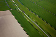 Nederland, Noord-Holland, Gemeente Schagen, 28-04-2010; Nieuwe Dijk ten westen van Schagen, onderdeel van de Westfriese Omringdijk, de vroegere zeewering. ..New Dike, part of the 'Westfrisian Surrounding Dike'..luchtfoto (toeslag), aerial photo (additional fee required).foto/photo Siebe Swart