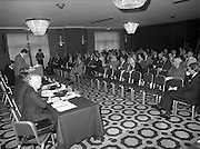 07/11/1982<br /> 11/07/1982<br /> 07 November 1982<br /> Fitzwilton Limited, Annual General Meeting at the Berkeley Court Hotel, Dublin. Picture shows  Dr. A.J.F. (Tony) O'Reilly, Chairman addressing the crowd.