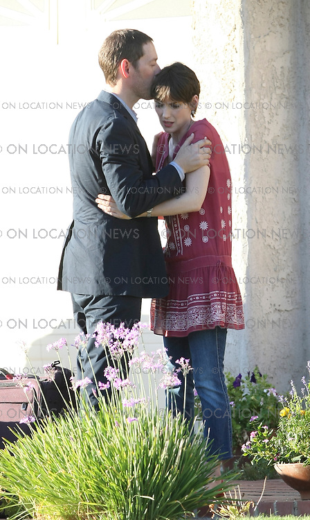 VALENCIA, CALIFORNIA - TUESDAY 5th AUGUST 2008 NON EXCLUSIVE: Hilary Duff, Winona Ryder, Josh Holloway from the TV Show LOST and Sean Astin from Lord Of The Rings film scenes for the comedy film 'Stay Cool'. Hilary Duff is in her High School Prom dress. Winona Ryder is hugged and kissed by actor/director Michael Polish in a scene. Strange looking buddies Josh Holloway with fake tatoos looking gangster style teams up with Sean Astin who plays a gay character for a scooter ride with actor director Micheal Polish on board the scooter as well.  Photograph: On Location News. Sales: Eric Ford 1/818-613-3955 info@OnLocationNews.com..