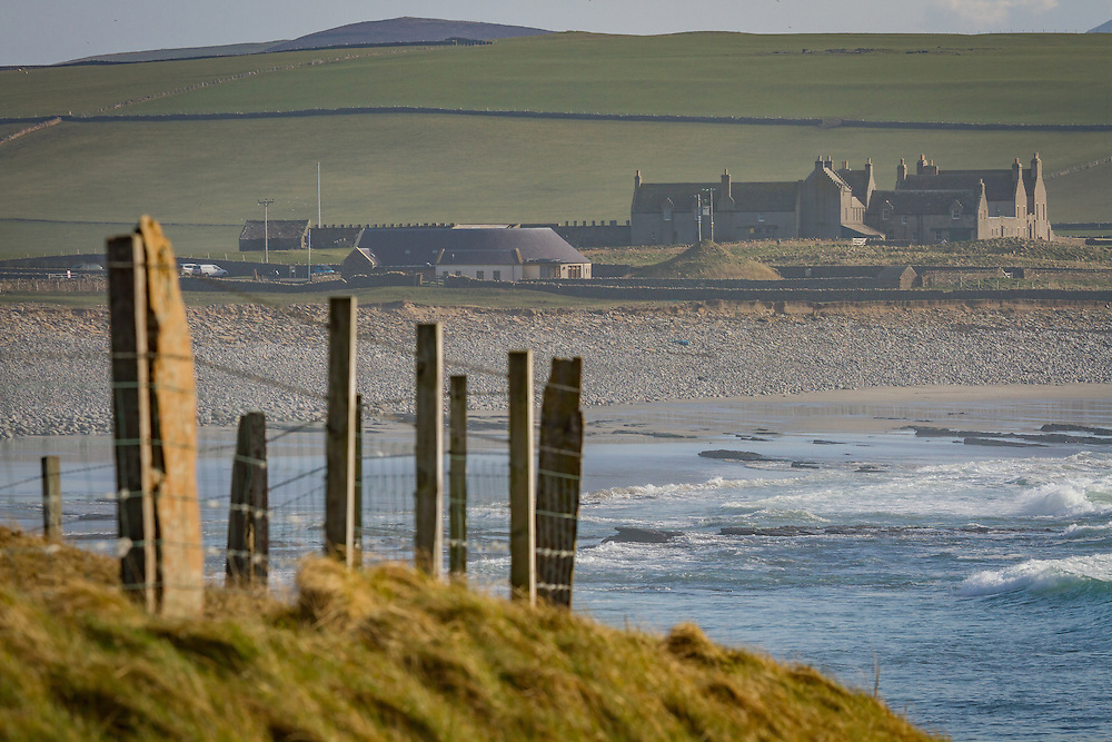The view over the Bay of Skaill and Skara Brae on mainland Orkney