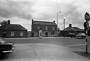 09/06/1967<br /> 06/09/1967<br /> 09 June 1967<br /> Views near St Theresa's Malahide Road, Dublin. O'Carroll's shop. Note the old telephone box.