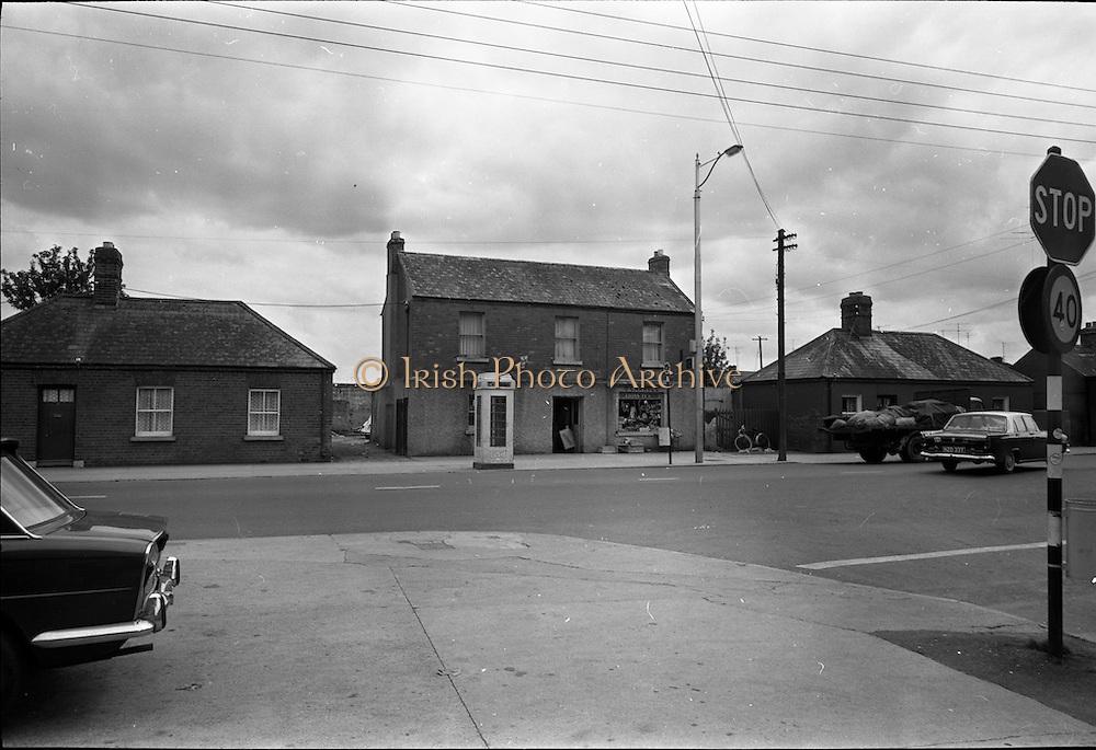 09/06/1967<br /> 06/09/1967<br /> 09 June 1967<br /> Views near St Theresa's Malahide Road, Dublin. O'Carroll's shop. Note the old telephone box.