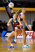 Tactix player Hayley Saunders during their ANZ Championship Netball game between the Mainland Tactix v Queenland Firebirds. Marlborough Lines Stadium 2000, Blenheim, New Zealand. Sunday 24 May 2015. Copyright Photo: Chris Symes / www.photosport.co.nz