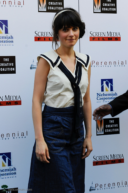August 27, 2008 - Actress Zooey Deschanel attends the Spotlight Initiative Award Morning Reception Honoring Annette Bening during the 2008 Democratic National Convention in Denver.