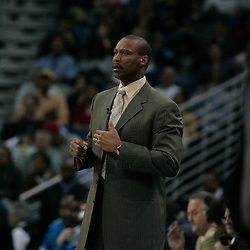 30 January 2009: New Orleans Hornets coach Byron Scott watches from the bench during a 91-87 loss by the New Orleans Hornets to Golden State Warriors at the New Orleans Arena in New Orleans, LA.