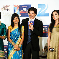 MACAU, MACAO - JANUARY 21:  Indian actors (L-R) Rati Pandi, Crisna Raj, Shah Rukh Khan and Mitale Nag attend a news conference ahead the Zee Cine Awards 2012 ceremony at The Venetian Macao-Resort-Hotel on January 21, 2012 in Macau.  Photo by Victor Fraile / studioEAST *** Local Caption