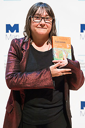 © Licensed to London News Pictures. 16/10/2017. London, UK.  UK author ALI SMITH with her book Autumn attends the Man Booker prize for fiction shortlisted event at the Royal festival Hall. The winning author will receive £50,000 prize money.Photo credit: Ray Tang/LNP