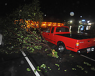 Storm damage on West Jackson Avenue in Oxford, Miss. on Wednesday, April 27, 2011.