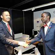 20150604- Brussels - Belgium - 04 June2015 - European Development Days - EDD  - <br /> Serguei Outtara President & Executive Manager EU-Africa Chamber of Commerce and Axel Addy Minister  Liberia  © EU/UE