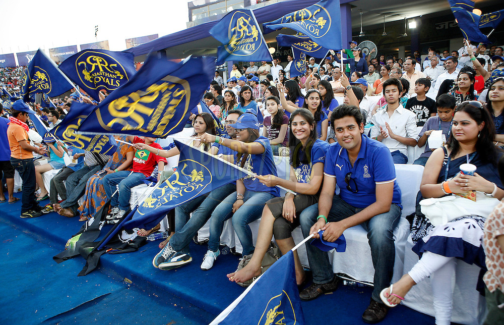 Crowd during match 38 of the the Indian Premier League ( IPL ) Season 4 between the Rajasthan Royals and the Pune Warriors held at the Sawai Mansingh Stadium, Jaipur, Rajatshan, India on the 1st May 2011..Photo by Money Sharma/BCCI/SPORTZPICS.