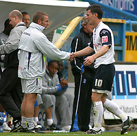 Photo: Paul Thomas.<br /> Preston North End v Birmingham City. Coca Cola Championship. 06/05/2007.<br /> <br /> David Nugent (R) of Preston comes off.