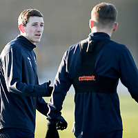 St Johnstone Training….14.12.18    McDiarmid Park<br />Blair Alston talks with Jason Kerr during training this morning ahead of tomorrows game against Motherwell<br />Picture by Graeme Hart.<br />Copyright Perthshire Picture Agency<br />Tel: 01738 623350  Mobile: 07990 594431