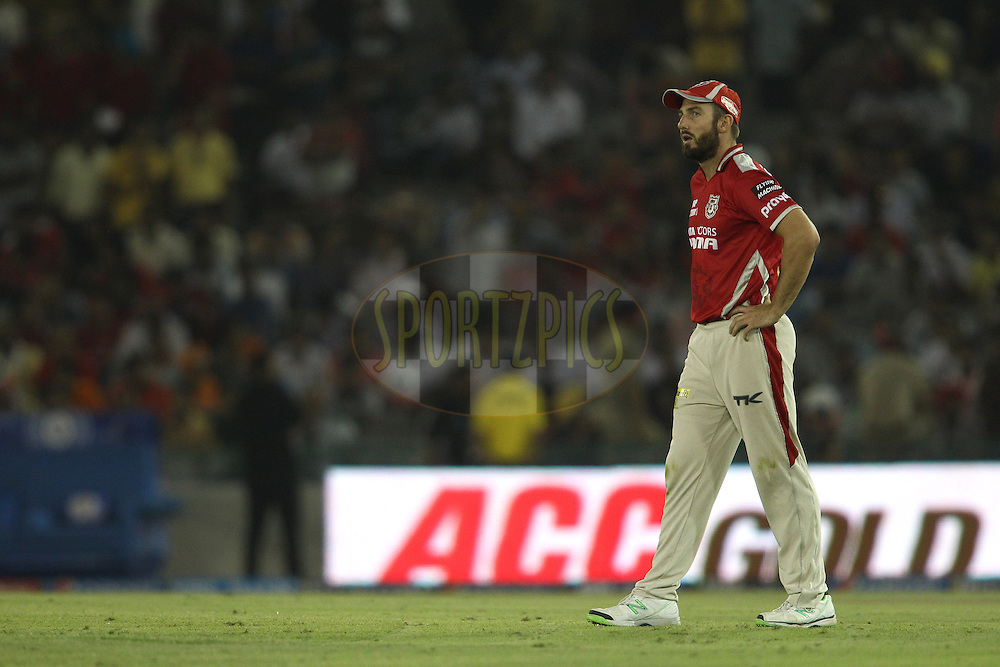 Shaun Marsh of the Kings XI Punjab during match 48 of the Pepsi Indian Premier League Season 2014 between the Kings XI Punjab and the Mumbai Indians held at the Punjab Cricket Association Stadium, Mohali, India on the 21st May  2014<br /> <br /> Photo by Shaun Roy / IPL / SPORTZPICS<br /> <br /> <br /> <br /> Image use subject to terms and conditions which can be found here:  http://sportzpics.photoshelter.com/gallery/Pepsi-IPL-Image-terms-and-conditions/G00004VW1IVJ.gB0/C0000TScjhBM6ikg