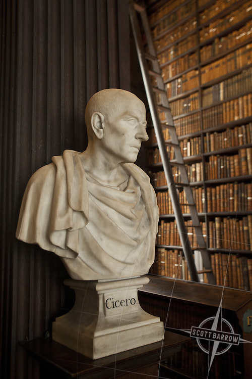 Bust Of Cicero In The Long Room Of The Trinity College Library In
