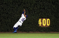 August 30, 2017 - Chicago, IL, USA - Chicago Cubs left fielder Jon Jay (30) catches a fly out by the Pittsburgh Pirates' Andrew McCutchen during the third inning at Wrigley Field in Chicago on Wednesday, Aug. 30, 2017. (Credit Image: © Nuccio Dinuzzo/TNS via ZUMA Wire)