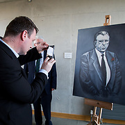 24.03.2017            <br /> Limerick Civic Trust, Marjorie Daly commissioned Jim Kemmy Portrait unveiling by Jan O'Sullivan TD at the Kemmy Business School, University of Limerick. <br /> <br /> Pictured at the event was Alan Kelly, TD. Picture: Alan Place