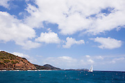 Drumfire sailing in the Antigua Superyacht Challenge, race four.