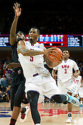 DALLAS, TX - FEBRUARY 6: Markus Kennedy #5 of the SMU Mustangs drives to the basket against the Temple Owls on February 6, 2014 at Moody Coliseum in Dallas, Texas.  (Photo by Cooper Neill) *** Local Caption *** Markus Kennedy