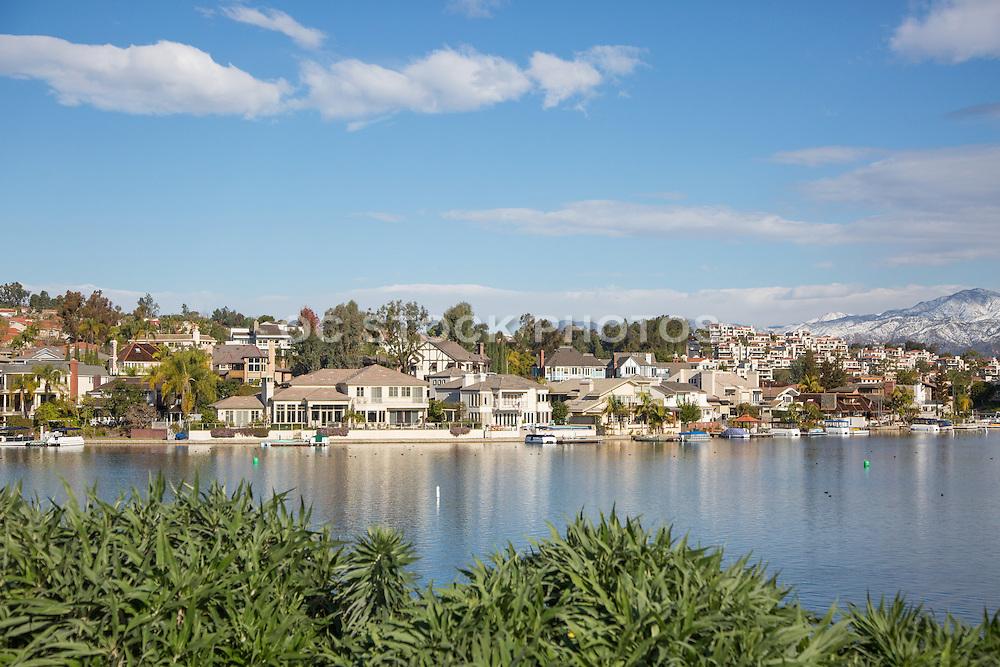 Winter Scene of Lake Mission Viejo Orange County California
