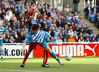 Photo: Kevin Poolman.<br />Reading v Stoke City. Coca Cola Championship. 17/04/2006. Reading's Shane Long is pulled back by Michael Duberry.