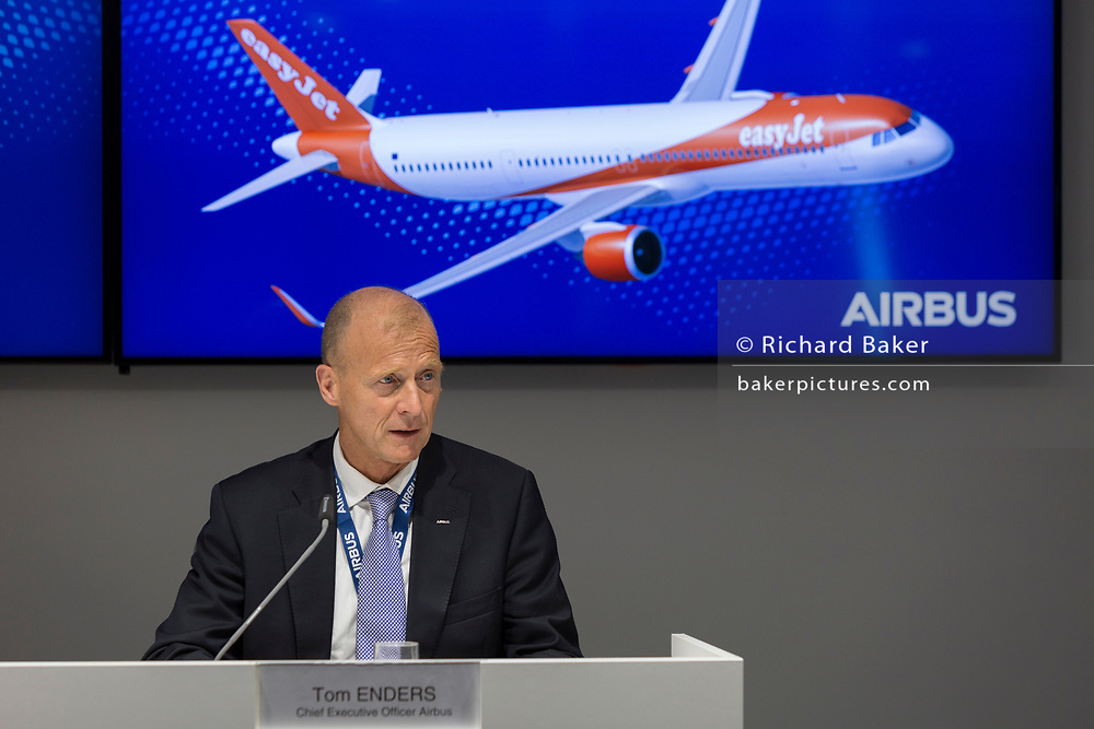 The CEO of Airbus Industries, Tom Enders at the Farnborough Airshow, on 18th July 2018, in Farnborough, England.