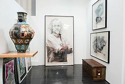 Showcase art gallery in warehouse in Alserkal Avenue arts district in Al Quoz in Dubai United Arab Emirates