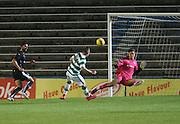 Kyle Gourlay produces a wonderful save to deny Mark Hill - Celtic v Dundee - Development League at Cappielow<br /> <br />  - &copy; David Young - www.davidyoungphoto.co.uk - email: davidyoungphoto@gmail.com