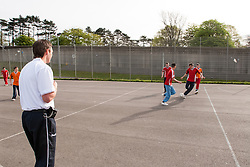 Prisoners playing football, prison UK